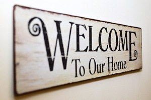 Pest Control - Croach - Kirkland, WA - December Pest Control - Welcome to our Home Sign