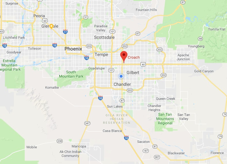 Pest Control Services in Phoenix Arizona - Croach Service Area Map